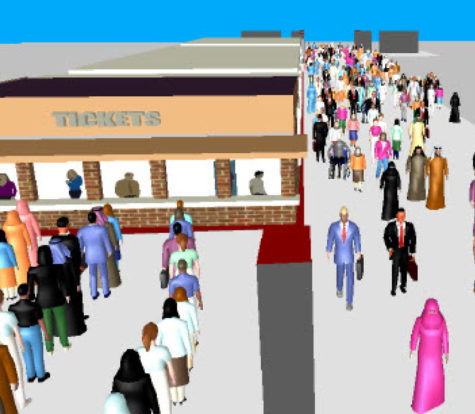 Pedestrian Modelling for SECP - Concourse Link, Education City