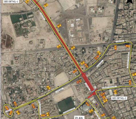 Traffic Diversion Plan for Qatar Pedestrian Crossing Masterplan