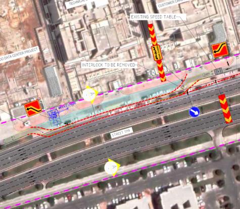 Traffic Diversion Plan for Mesaimeer Data Centre